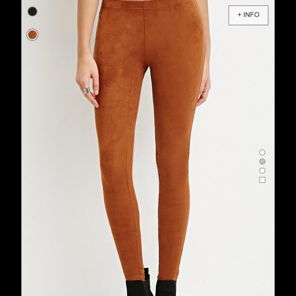 Never worn Faux suede camel leggings. Never worn, perfect condition. =] Urban Outfitters Pants Leggings