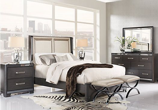 picture of Eric Church Highway To Home Silverton Sound Graphite 5 Pc Queen Upholstered Bedroom from Queen Bedroom Sets Furniture