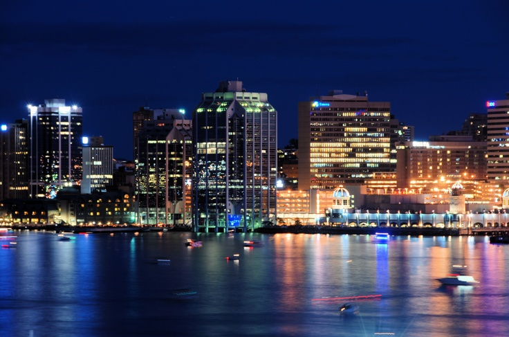 Halifax at night...I lived in Halifax/Dartmouth for 17 years and this was the view out of my apartment window for the last 10 years!