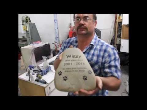 Etching a Pet Memorial River Stone - YouTube