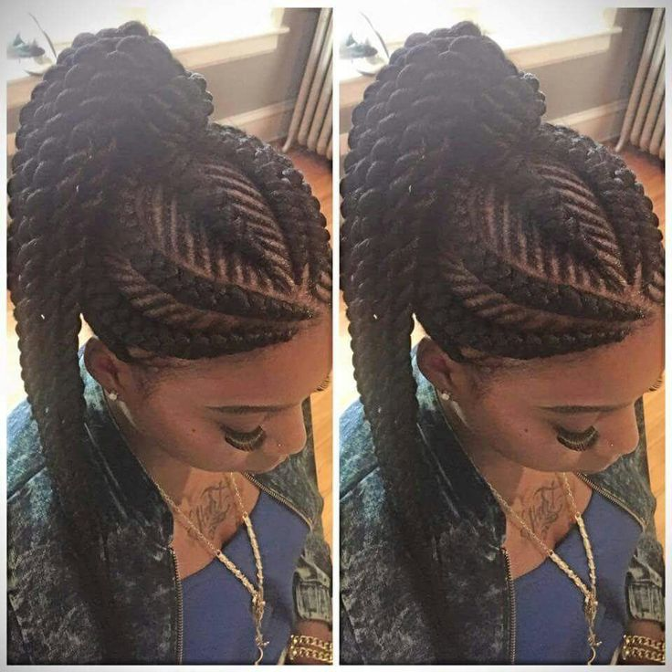 Ghana Braid Up Do