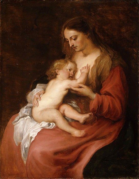 Антонис ван Дейк - Богоматерь с младенцем. часть 4 Музей Метрополитен