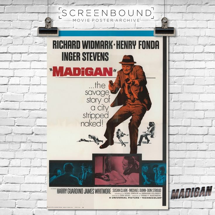 From the #screenbound archives come a collection of old #filmposters #stills and other great stuff from the hard-hitting detective drama 'Madigan' starring Richard Widmark and Henry Fonda! Widmark portrays the veteran Big Apple detective who is given only a few hours to track down a vicious killer. Henry Fonda is the humane yet relentlessly forceful police commissioner who orders Widmark on to the streets to solve the case, even though he knows it might be his last assignment…