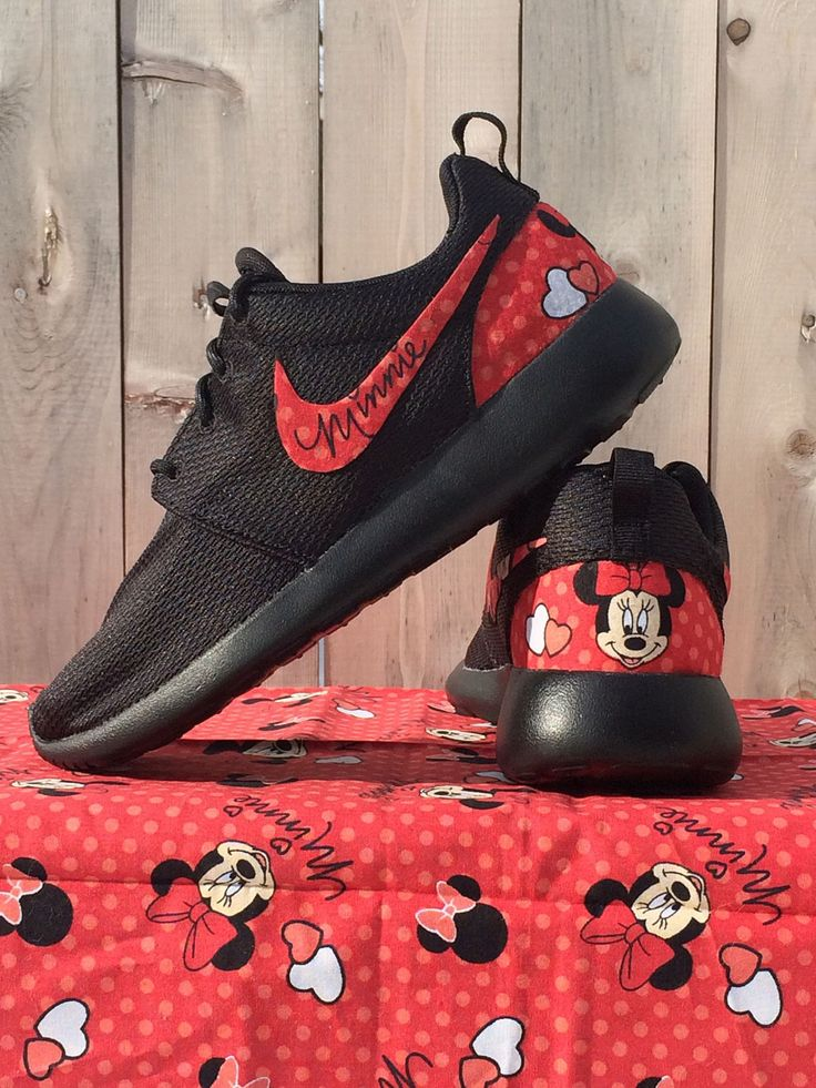 NEW Minnie Mouse Nike Custom Roshe by GrabbKicks on Etsy https://www.etsy.com/listing/265599694/new-minnie-mouse-nike-custom-roshe