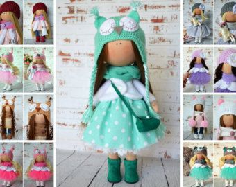 Handmade doll Tilda doll Collection doll by AnnKirillartPlace