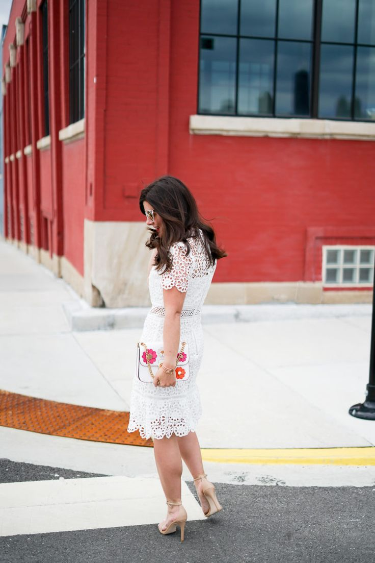 Lace Flounce Hem Dress (Less Than $80!) | A Lily Love Affair