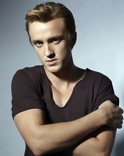 Tom Felton. Draco Malfoy idk why but hes so cute...kinda reminds me of this irish guy i had a really big crush on!