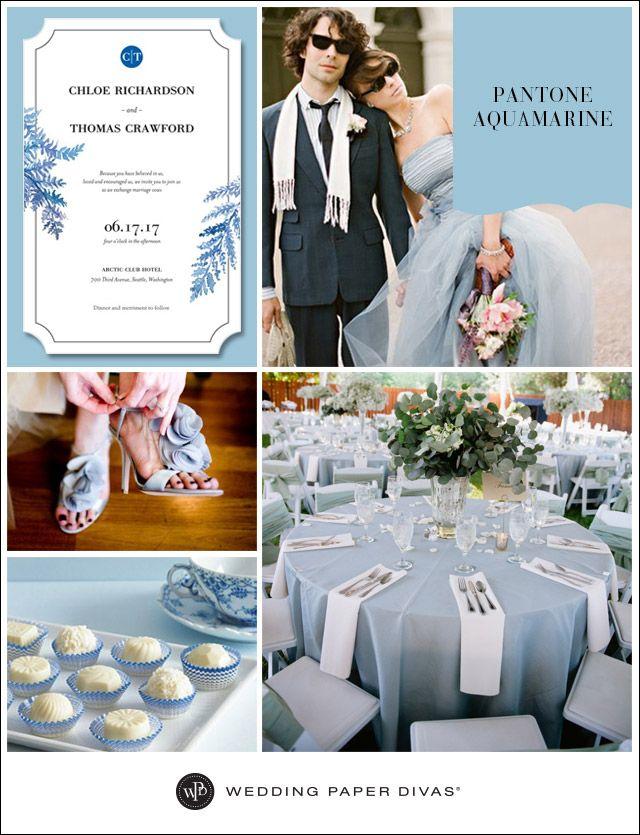 Pantone Aquamarine Wedding Inspiration Board | Wedding Paper Divas