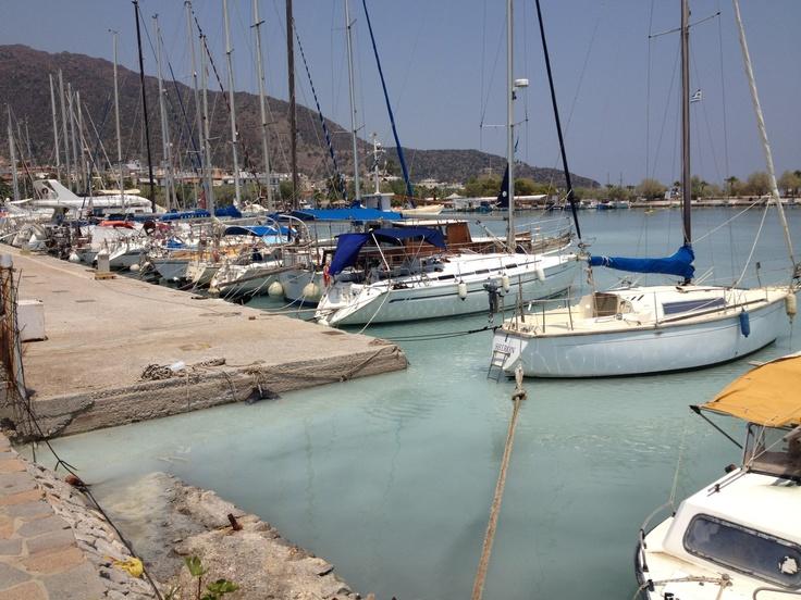 boat at methana port