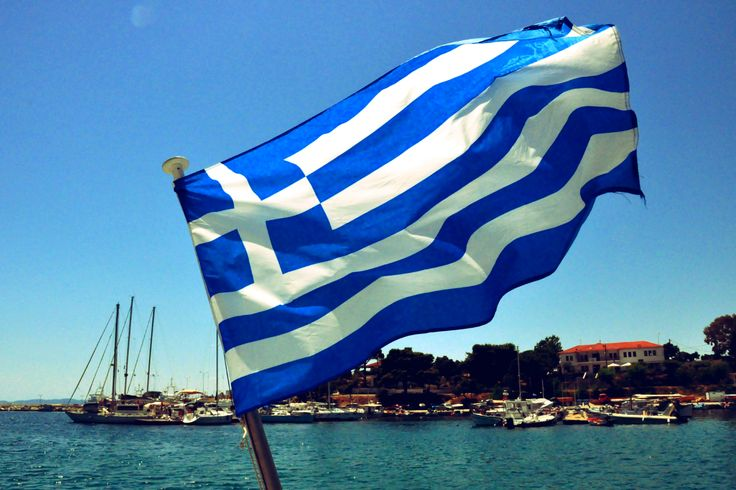 Greek Flag, Marmaras, Halkidiki, Greece