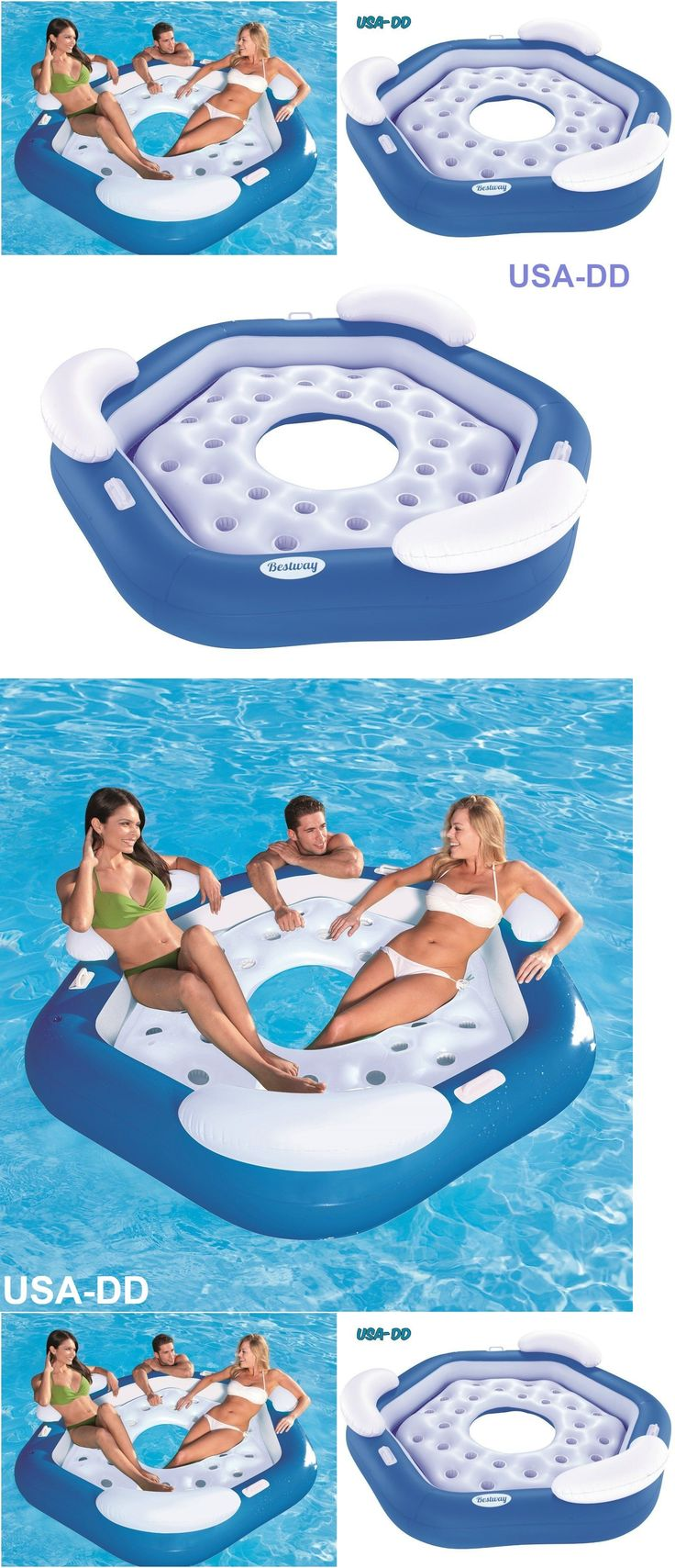 Inflatable Floats and Tubes 79801: Giant Inflatable Floating Island Pool Party Big Lake Water Tube Ocean River Raft -> BUY IT NOW ONLY: $40.39 on eBay!