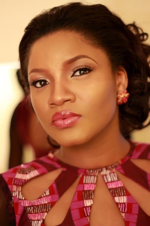 Cutout neckline worn by Nigerian actress, Omotola Jalade