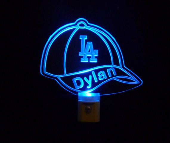 camo baseball cap with lights built in speakers personalized dodgers night light favorite team unique