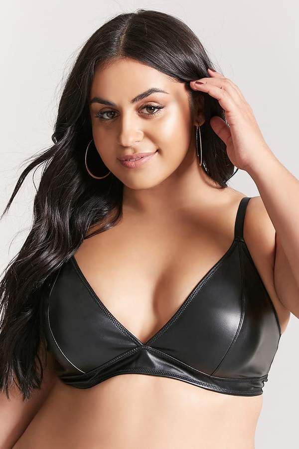 e82fc5d231 FOREVER 21+ Plus Size Faux Leather Bralette