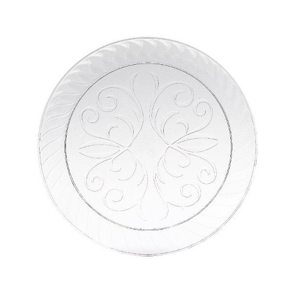Clear Scroll Plastic Dessert Plate 10ct  sc 1 st  Pinterest & 22 best Catering Supplies images on Pinterest | Catering Plastic ...