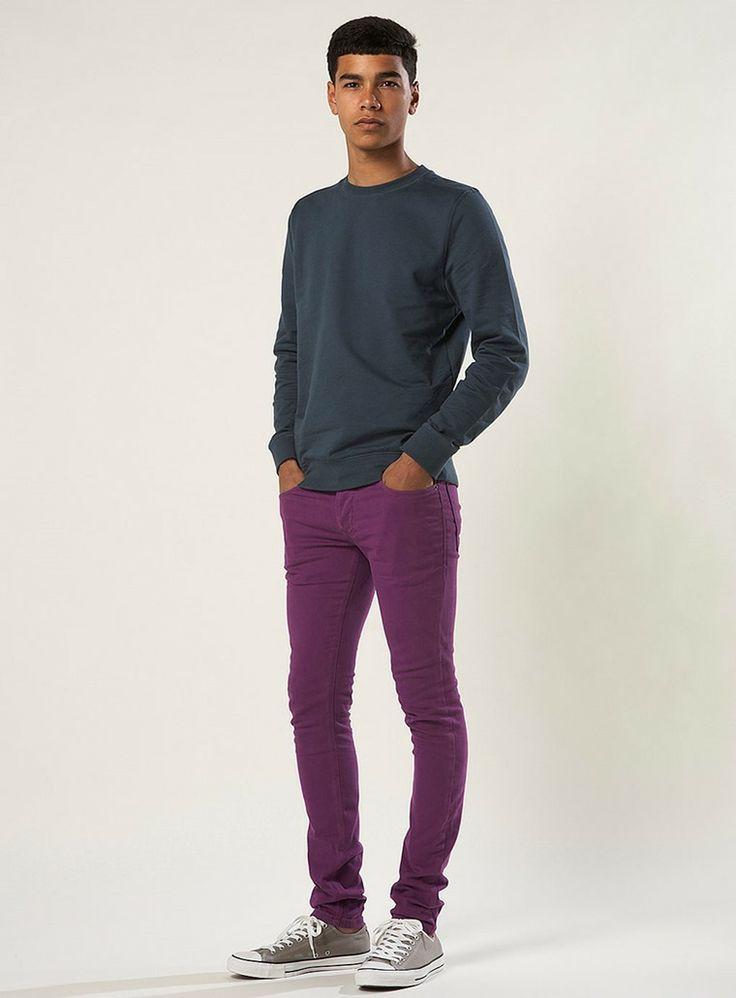 Pantalon morado hombre con que combina fashion love - Que color combina con el morado ...