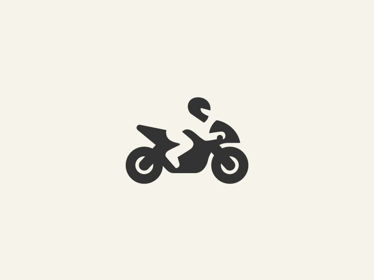 Ghost Rider - Logo Design - Logomark, Motorcycle, Helmet, Figure, Black & White, Negative space
