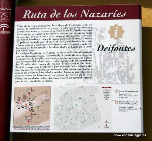 """#Granada - #Deifontes - Ruta de los Nazaríes - 37º 19' 33"""" -3º 35' 44"""" / 37.325833, -3.595556  Durante la época musulmana, Deifontes perteneció al reino de Granada y se vio envuelta en cantidad de tropelías y escaramuzas al estar situada en la zona fronteriza entre los dos reinos."""