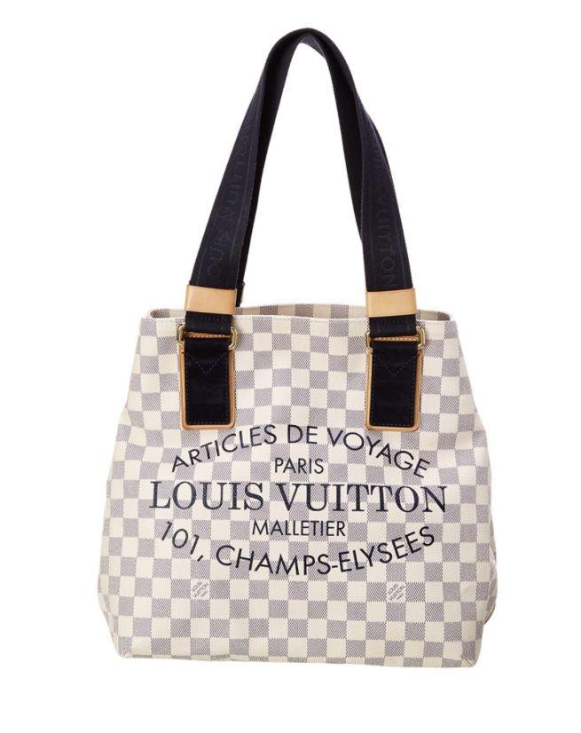Louis Vuitton Limited Edition Damier Azur Canvas Beach Bag in Ivory ... d8b1b4c57f