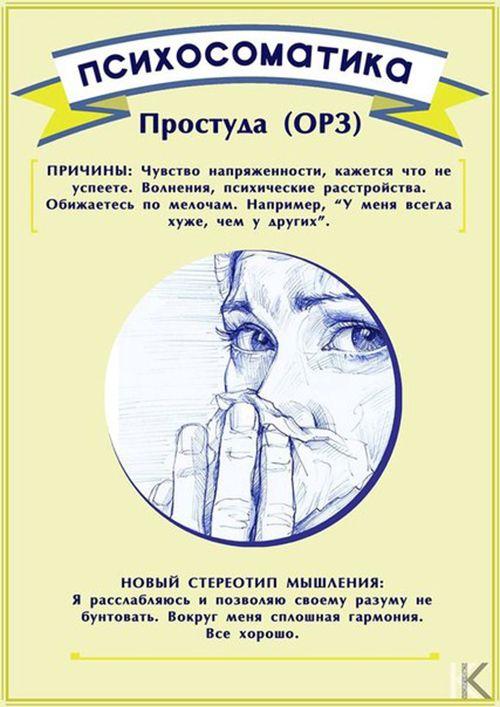 психосоматика простуды