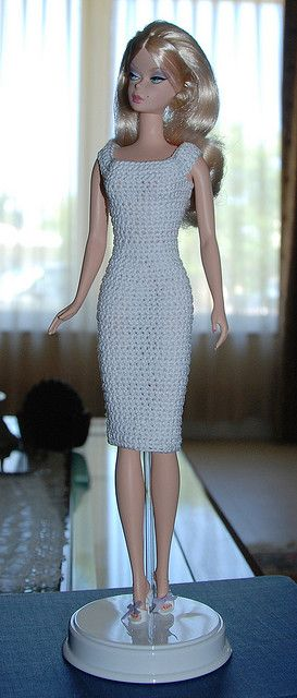 Barbie models a new dress . Hmm.... Gonna make this one in red for a more elegant romantic look