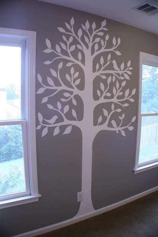 tree painting on walls nursery - Google Search
