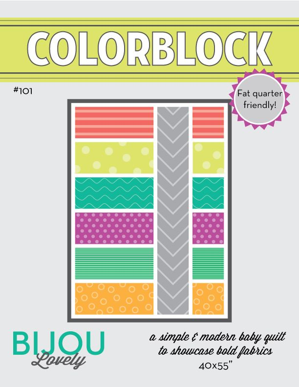 Colorblock Quilt Pattern. This is the one I want to make, @Lisa Leclerc!!