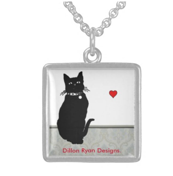 """Charm Necklace : """"Pretty Little Kitty"""" -2 sizes - $35.00 #onselz"""