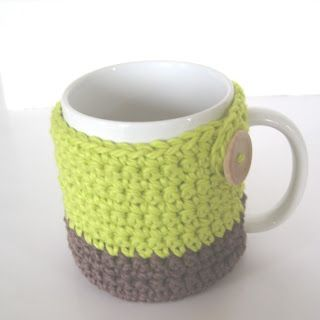 Crochet Mug Cozy pattern from   http://crochetnplay.blogspot.com