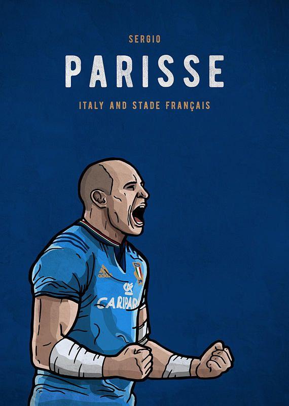 Sergio Parisse Italy & Stade Français Illustration
