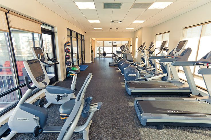 Radius Apartments' fitness center offers top of the line Precor equipment, free weights, and a yoga room. www.RadiusApartments.com