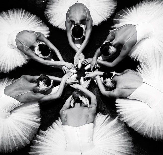 A circle of ballerinas —Dina Johnsen