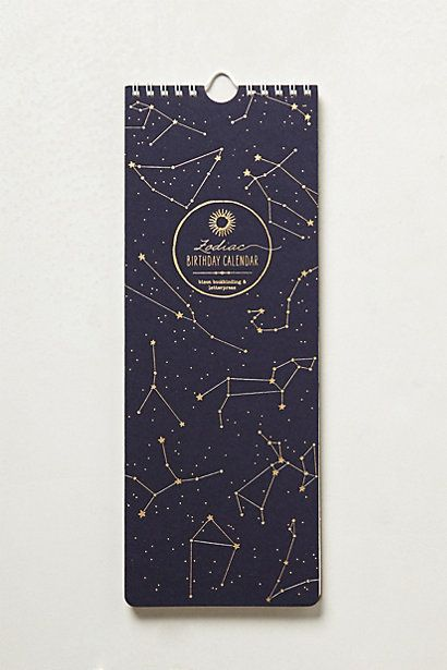 Zodiac Sign 2014 Calendar @ anthro. Might get this for next year; had something similar for 2011 and really liked it. I really like that there is a line allotted to jot down reminders for each day - I need that!