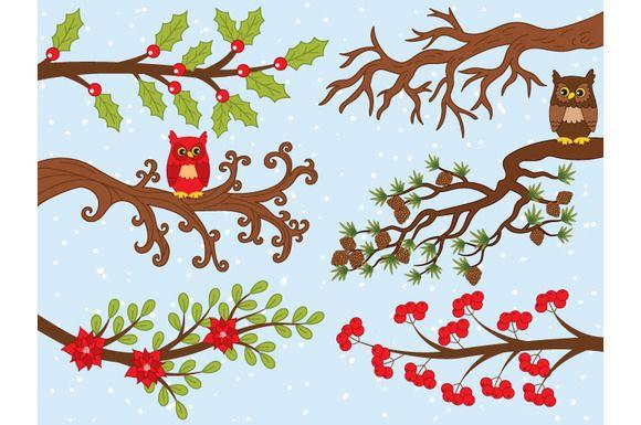Vector Christmas Branches by Tanita_B on @creativemarket