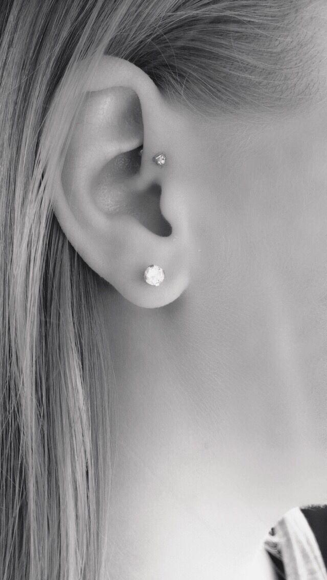 Forward helix piercing …