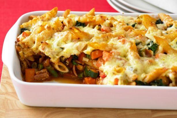 Vegetable pasta bake main image | Recipes | Pinterest