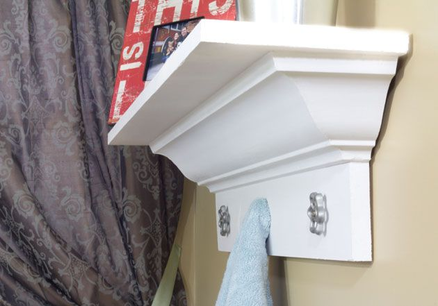 How to Build a Shelf With Crown Molding
