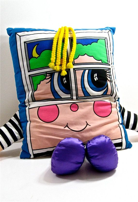 Vintage Pillow People 1980s Vintage Pillows My