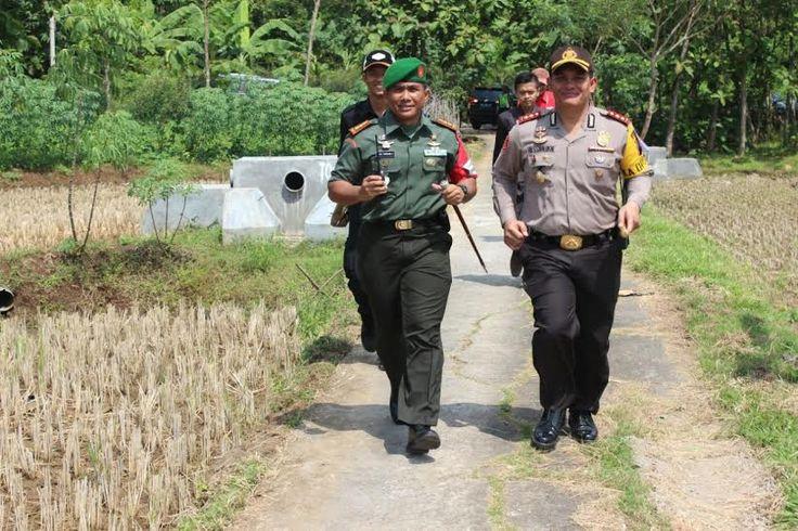 Dandim dan Kapolres Karanganyar 'Lari Siang' saat Pengaman Presiden RI di Kragan Gondangrejo