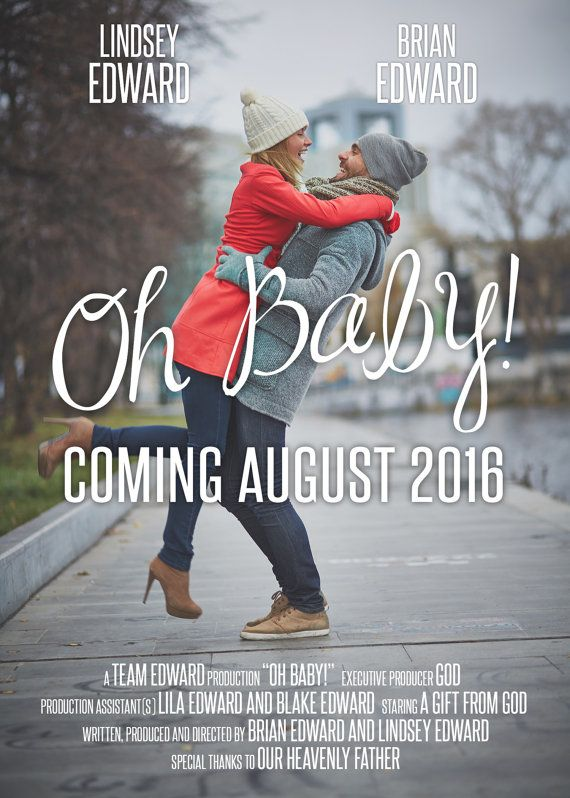 Pregnancy Announcement Baby Announcement by StudioTwentyNine