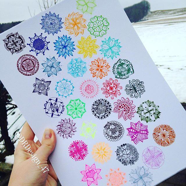 36 Brilliant colours @staedtlermars . . 36x mini mandala   #mandala #mandalala #mandalapassion  #mandalalove #love_mandalas #mandala_sharing #mandalaart #mandalamaze  #featuregalaxy #mandalaplanet #zentanglemandalalove #beautiful_mandalas #hearttangles  #mandaladesign #arts_help #heymandalas #gorgeousmandala  #mizu_art #helpmyart  #mandaladrawing #chakra #mandalastyle #mandalas #arts_secret  #artshub #drawing  #staedtler #mystaedtler #triplesartist #dailyart