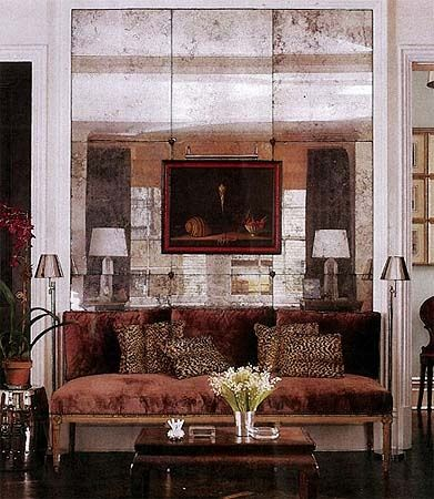 Velvet, antique mirror and leopard.....OH YES