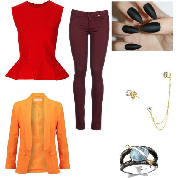 smaug inspired outfit  by wolfie112-99 on Polyvore featuring polyvore fashion style Antonio Berardi Miss Selfridge 8 Bling Jewelry