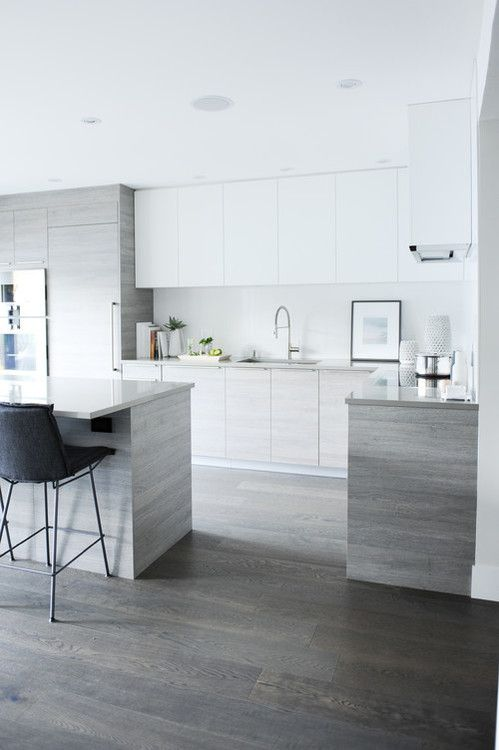 17 best ideas about modern kitchen design on pinterest for Modern white and gray kitchen