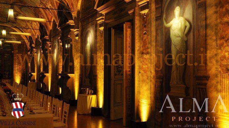 ALMA PROJECT @ Villa Corsini - Galleria Pandolfo - uplights battery led - deep amber 243
