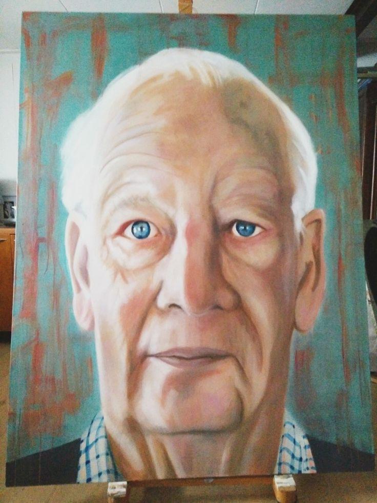 portrait; Dad - Ruud van Straten, oil on canvas 120x180 cm.