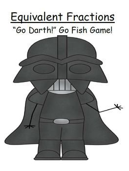 This free GO DARTH! Go Fish Card Game focuses on Equivalent Fractions!