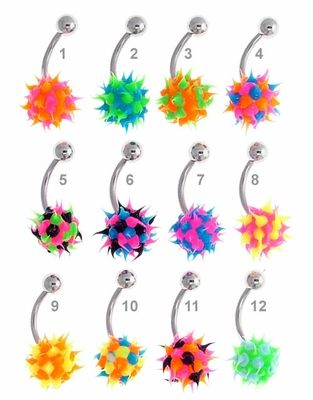 Multi-Tone Koosh Ball Belly Button Ring