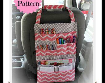 PATTERN - Kids Car Organizer - Activity Portfolio - Crayon Holder - INSTANT DOWNLOAD