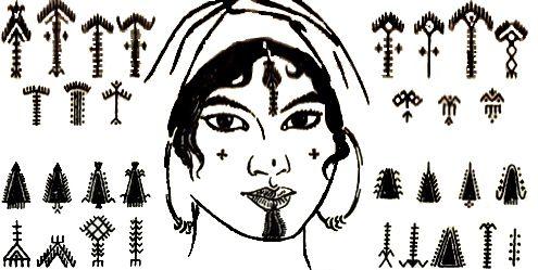 nostalgerie:  Amazigh tattoo patterns from Tunisia. So beautiful!